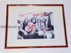 Автографы: ABBA. Бьорн Ульвеус, Бенни Андерссон, Агнета Фельтског, Анни-Фрид Лингстад