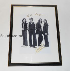 Автографы: The Beatles. Пол Маккартни, Ринго Старр