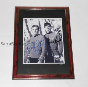 Автографы: Леонард Нимой, Уильям Шетнер. Star Trek / Звездный путь. Редкость