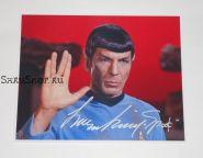 Автограф: Леонард Нимой. Star Trek / Звездный путь. Редкость